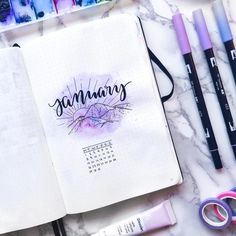 If you need amazing bullet journal cover page inspiration, or just want to know what in the world a cover page is, this bujo post won't leave you hanging! Bullet Journal With Calendar, January Bullet Journal, Bullet Journal Cover Page, Bullet Journal Themes, Bullet Journal Inspo, Bullet Journal Spread, Bullet Journal Layout, Journal Covers, Bullet Journals