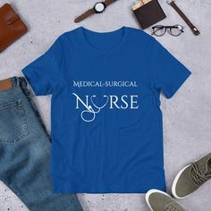 Cardiovascular Nurse Design Short-Sleeve Unisex T-Shirt by MKCoolDesigns on Etsy Cardiac Nursing, Shirt Shop, Female Models, Best Gifts, Short Sleeves, Medical, Unisex, T Shirts For Women, Ms