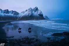 Photo Horses on Hofn Beach by Chris Burkard on 500px