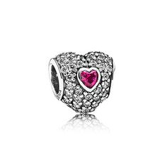 Perfect for Valentine's Day - Pandora In My Heart Charm PANDORA | In my heart, clear cz & synthetic ruby