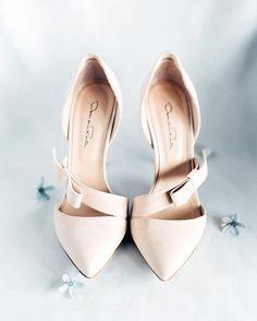 blush wedding heels