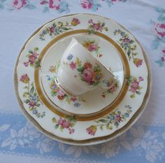 Vintage Mismatched Bone China Four Pieces With by MiladyLinden