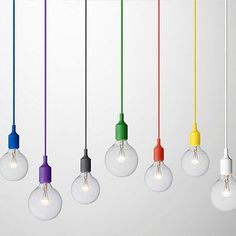 Retro Vintage Silicone Pendant Light Fixture (Style of Muuto)-e27 (Var Colours)