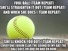 This is so true. I don't play softball but it sure works for my sports; hockey, soccer and even swimming and running! Keep practicing and your trophies (and medals) will come! Softball Chants, Softball Workouts, Softball Drills, Softball Players, Fastpitch Softball, Team Chants, Funny Softball Quotes, Baseball Quotes, Softball Pictures