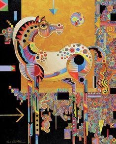 .Spirit Stallion Painting by Bob Coonts - Spirit Stallion Fine Art ...