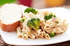Penne Alfredo with Bacon and Broccoli from @karly campbell of Buns in My Oven (My FAVORITE recipe site!)