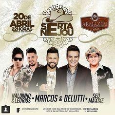 Sertanejou minha Bahia! Dia 20/04 tem @seumaxixe  @marcosebeluttioficial e @naldinhoeleoriosoficial lá no @armazemhall.  #seumaxixe #sertanejo #music #musica #eufaleibeber #naomeresponsabilizo