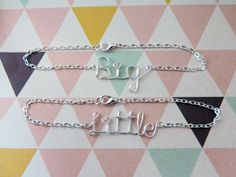 Sorority Set of Two Big and Little Sister by TheSweetSilverLining, $23.95