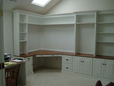 Custom Built Bookcases Corner desk built-in – London Carpentry Solutions