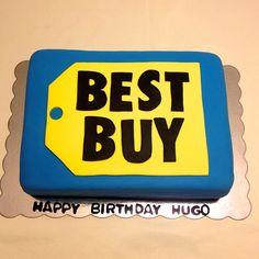 Best Buy logo birthday cake http://instagram.com/wellkneadedbakery