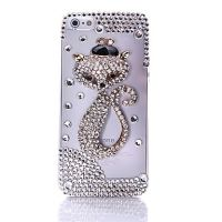 Fox Wearing Hat Zircon / Crystal Transparent Back Case for iPhone 5, 5S (FREE SHIPPING!) - Detailed item view - Cool Mobile Accessories