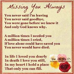 In loving memory of dad. It's been 13 years, yet it feels like yesterday. I still love and miss you!
