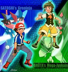 Ash Ketchum and his Greninja with Sawyer and his Mega Sceptile ♡ I give good credit to whoever made this Sawyer Pokemon, Pokemon X And Y, Ash Pokemon, Pikachu, Cool Pokemon Wallpapers, Pokemon Universe, Ash Ketchum, Drawing Projects, Cool Pictures