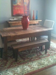 Custom Built Dining Table Benches 65000 Via Etsy