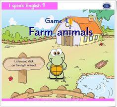 """""""Farm animals"""", juego de """"I speak English 1"""", de Casa Editorial Mundo de Niños S.A.S., está dedicado a la familiarización oral y escrita con el vocabulario básico en relación con los animales en inglés."""