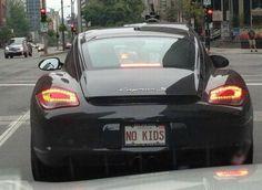 Porsche No Kids License Plate - Image