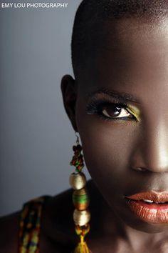 pinterest.com/fra411 #black #beauty Photographer – Emy Lou – www.emylou.co.uk  *Model - Karen Bengo  *Makeup Artist – Nazmeen A -  *Wardrobe Stylist – Iffat Raj