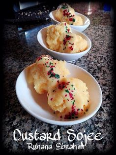Custard Sojee recipe by Ruhana Ebrahim posted on 30 Mar 2017 . Recipe has a rating of by 1 members and the recipe belongs in the Indian Sweet Starters recipes category Halal Recipes, Milk Recipes, Vegetarian Recipes, Indian Dessert Recipes, Indian Sweets, Custard Biscuits, Pudding Ingredients, South African Recipes, Food Categories