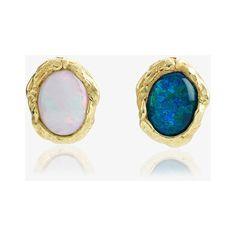 Orit Elhanati Large Abyss Opal Earrings ($1,065) ❤ liked on Polyvore featuring jewelry, earrings, blue, blue opal jewelry, blue opal earrings, earring jewelry, blue jewelry and orit elhanati