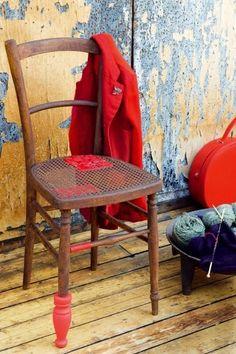 caractériELLE: On relook ses chaises avec du ruban !