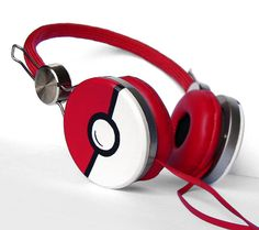 Poke-phones Pokemon gift for her customized headphones iphone birthday gift for him red Pokeball video game sound red music Plattan Beats Headphones, Over Ear Headphones, Choses Cool, Pokemon Gifts, Pokemon Craft, Pikachu, Pokemon Fan, Pokemon Stuff, Pokemon People
