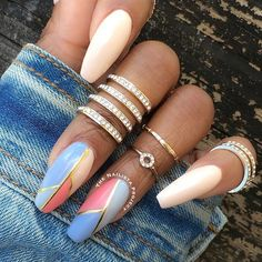 It's time to get inspired by our selection of 26 of the best nails. These are the top trending n Fancy Nails, Cute Nails, Pretty Nails, Fabulous Nails, Gorgeous Nails, Amazing Nails, Hair And Nails, My Nails, Color Block Nails