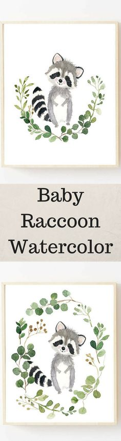 New Baby Room Animals Paint Ideas Nursery Artwork, Nursery Paintings, Nursery Letters, Animal Paintings, Woodland Animal Nursery, Woodland Animals, Baby Raccoon, Crochet Baby Cocoon, Baby Shower Flowers