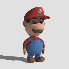 Super Mario 3D Model. www.getsbucket.com