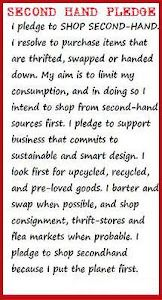 Second-hand shopping pledge - fighting consumerism