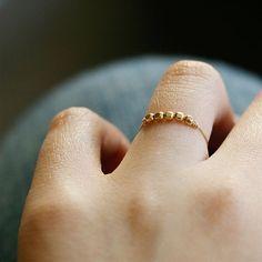 libra - minimalist gold ring by elephantine. $26.00, via Etsy.