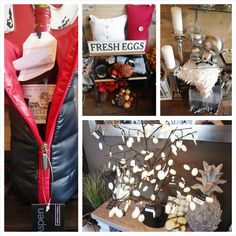 A collage of images from Louise's Cottage & Home in Goderich, Ontario
