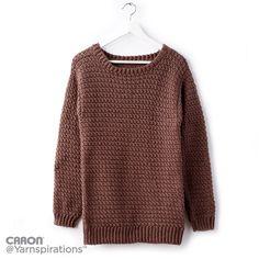 Big Easy Crochet Pullover - Free Crochet Pattern - (yarnspirations)
