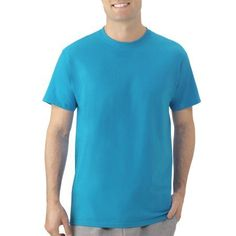 Fruit of the Loom Men's Short-Sleeve T-shirt, Size: Small, Blue