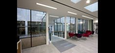 All walls to the new cafe at Southend Civic Centre were made from heated glass to provide the sole heat source