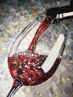 No photo description available. Mosaic Tile Art, Mosaic Artwork, Mosaic Crafts, Mosaic Projects, Mosaic Glass, Glass Art, Stained Glass Patterns, Mosaic Patterns, Mosaic Madness