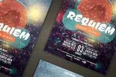 Requiem Party Flyer by Hydrozi on @creativemarket