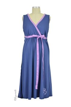 The BG Birthinggown (with Pockets) in Blueberry Pie