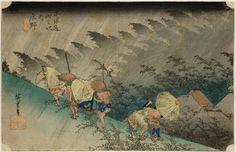 Utagawa Hiroshige, Shono haku-u, Tokaido Gojusan-tsugi no uchi