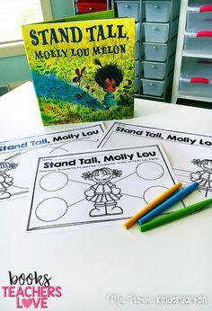 Mrs. Plemons' Kindergarten: {Stand Tall, Molly Lou Melon} and other Books Teachers Love