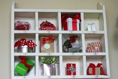 12 days of Christmas shadow box...with directions on how to make the box!