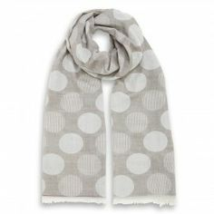 Dotted Soft Stole Beige Polka Dot Scarf, Polka Dots, Cotton Scarf, Classic Style, Scarves, Beige, How To Make, Italy, Free Shipping