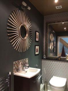 Decor, Light, Framed Bathroom Mirror, Furniture, Grey Bathrooms, Home Decor, Mirror, Bathroom Lighting, Bathroom