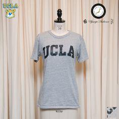 "Upscape Audience UCLA ""UCLA""日本製ボディクラックプリント半袖Tシャツ [Lady's] - 【 Audience 】"