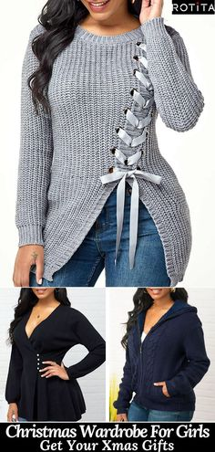 The Fall season this year has been fantastic! However, Winter Christmas is also coming and you may need to upgrade your Christmas Wardrobe. Warm Sweaters, Cardigan Sweaters For Women, Sweater Outfits, Fall Outfits, Cute Outfits, Fashion Outfits, Womens Fashion, African Fashion Dresses, Diy Clothes