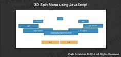 3D Spin Menu using JavaScript