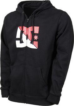NEW DC Shoes Mens Power Move Hoodie Sweatshirt Zip Up Jacket Jumper S-XL Black #DCShoes #Hoodie