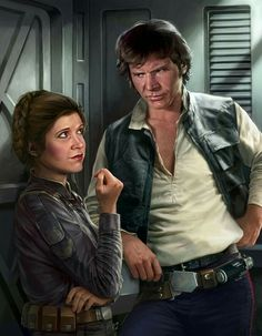 Han SOLO and Leia ORGANA | By Chris TREVAS (STAR WARS Artist) | STAR WARS : Comics