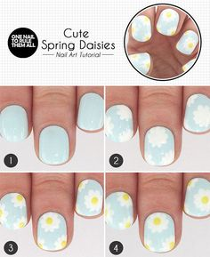 Easy Step By Step Spring Nail Art Tutorials For Beginners & Learners 2015