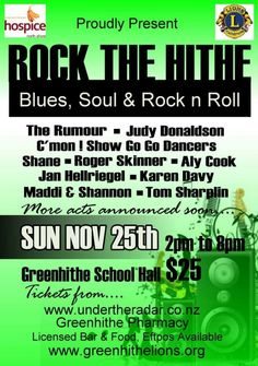 Rock the Hithe  Aly cook performing Sunday NOV 25th