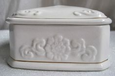 $24.99 FREE SHIP  Paul Sebastian PS 1996 Limited Edition White Gold Trim Trinket Box Vintage | eBay